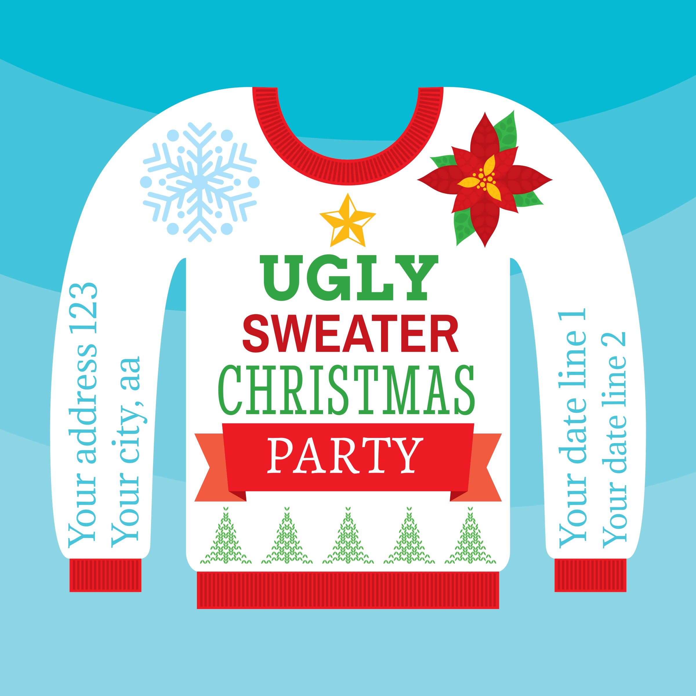 Ugly Christmas Sweater Card - Download Free Vector Art, Stock ...