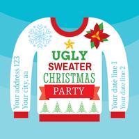 Tarjeta fea del suéter de la Navidad