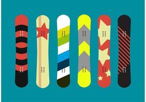 Vettori isolati snowboard