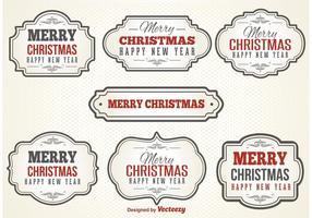 Vintage Kerst Labels