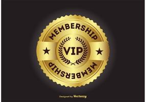 Vip lidmaatschap badge