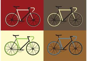Set vettoriale di biciclette vettoriali gratis