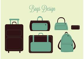 Vector libre bolsas de viaje y vectores maleta