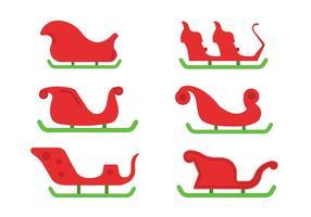 Santa's Sleigh Vektor Set