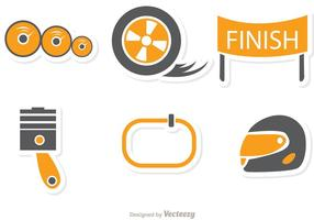 Racing Icon Vector Pack