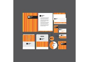Plantilla de perfil de empresa de Orange Striped