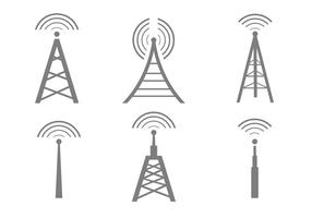 Vector Cell Tower Icons