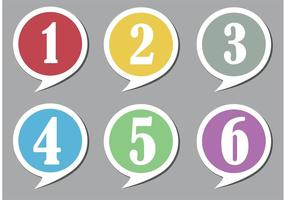 Numbered Speech Bubbles  vector