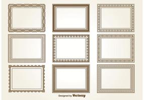 Cornici decorative quadrate vettore