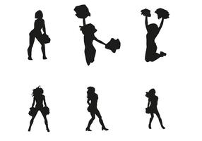 Vector Cheerleader Silhouetten