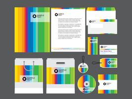 Rainbow Company Profile Template  vector