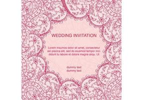 Decorated Indian Wedding Card  vector