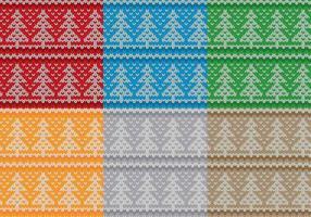 Patrones del suéter del árbol de navidad