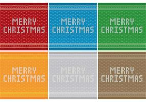Merry Christmas Sweater Patterns vector