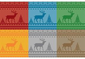 Christmas Reindeer Sweater Patterns  vector