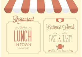 Gratis Vector Restaurant Sign Design