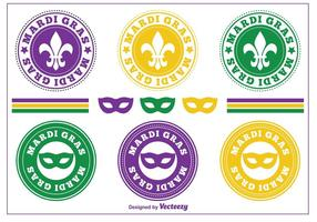 Mardi Gras Postzegels / Badges
