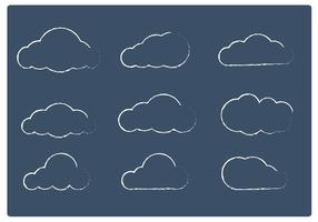 Sketchy Cloud Vectors