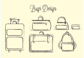 Pacote de vetores do saco de viagem