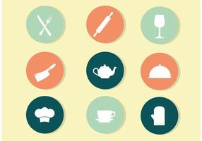 Circle Kitchen Icon Vectors