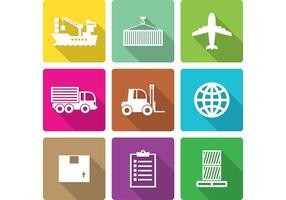Flat Shipment Icons vector
