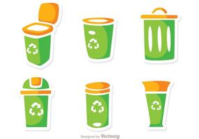 Iconos de la basura Vector Pack