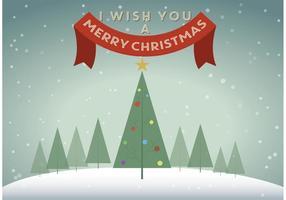 Priorità bassa dell'albero di Natale di vettore