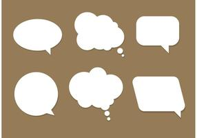 Libre Vector Speech Bubbles