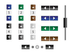 Números e botões vetoriais