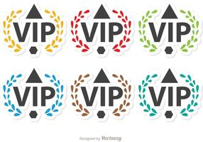 Laurel VIP Icon Vectors