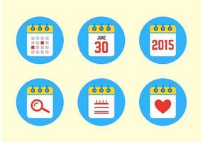 2015 Kalender ikoner
