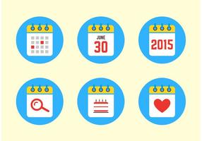 Icônes de calendrier 2015