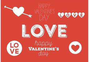Valentinsdag typografi