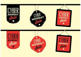 Cyber monday labels vector