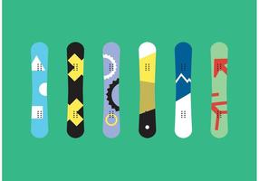 Snowboard Isolierte Vektoren