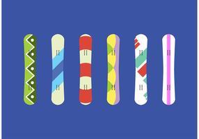 Snowboard isolerade vektorer