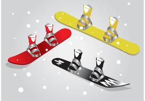 Vecteurs isolés de snowboard
