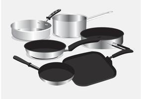 Pan with Handle Vectors