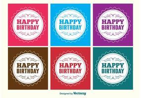 Gelukkige Verjaardag Etiketten