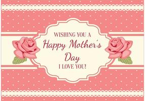 Cartão chique gasto do dia das mães