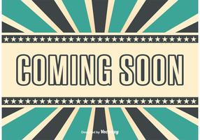 Coming Soon Retro Style Bacground