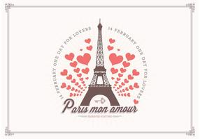 Free Love In Paris Vector Background