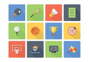 Free Flat Sport Vector Icons