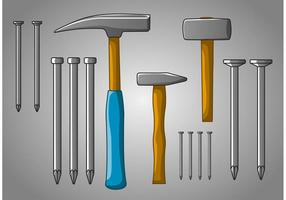 Hammers and Some Nails vector