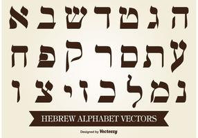 Hebräisch Alphabet Vektor