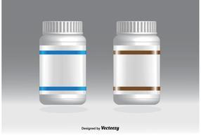 Blank Pill Bottles