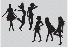 Silhouette Mädchen Vektoren