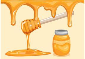 Fondo del goteo de la miel