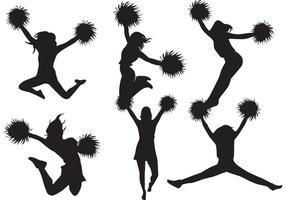 Paquet de vecteur de silhouette Cheerleader