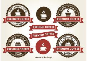 Premium-Kaffee-Abzeichen